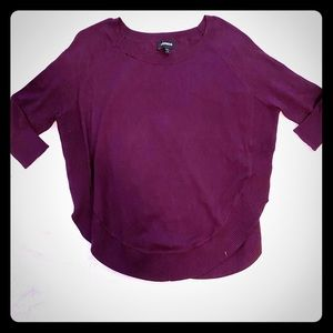 Express Dolman Sleeve Purple Sweater Top S
